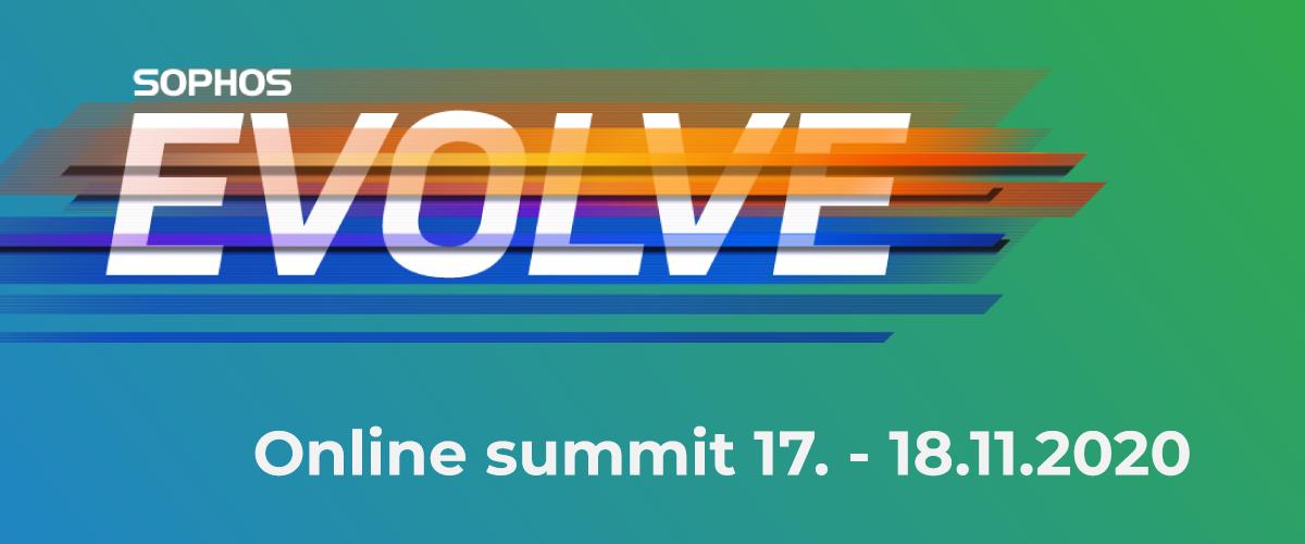 Pozvánka na Sophos Evolve Summit – 17. – 18.11. online